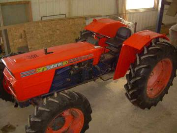 Tractor looks spiffy!