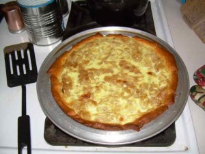 Onion Pie Fresh from Oven